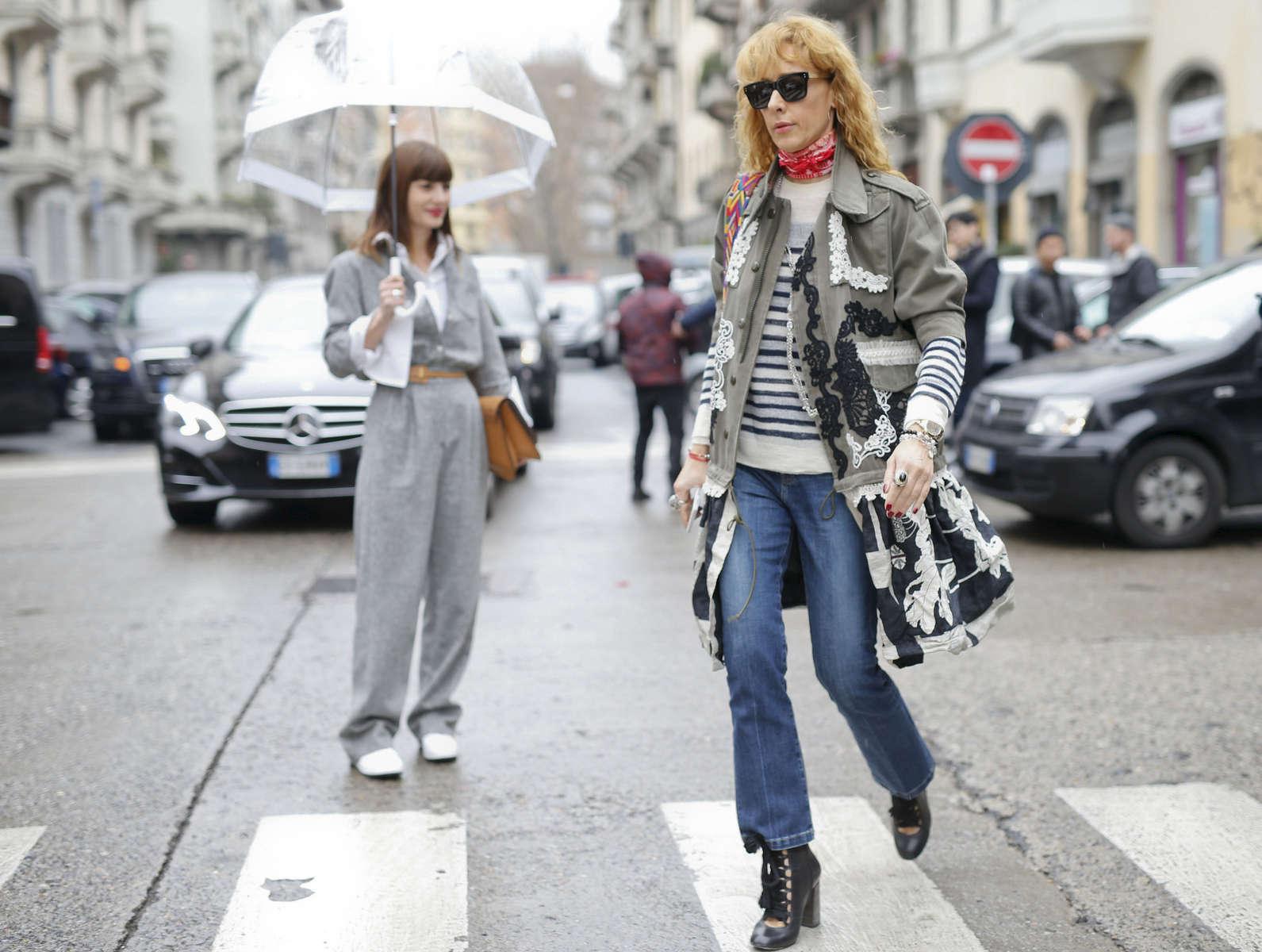 Daniela Zuccotti, Elina Halimi - Milan Fashion Week, Feb. 2016