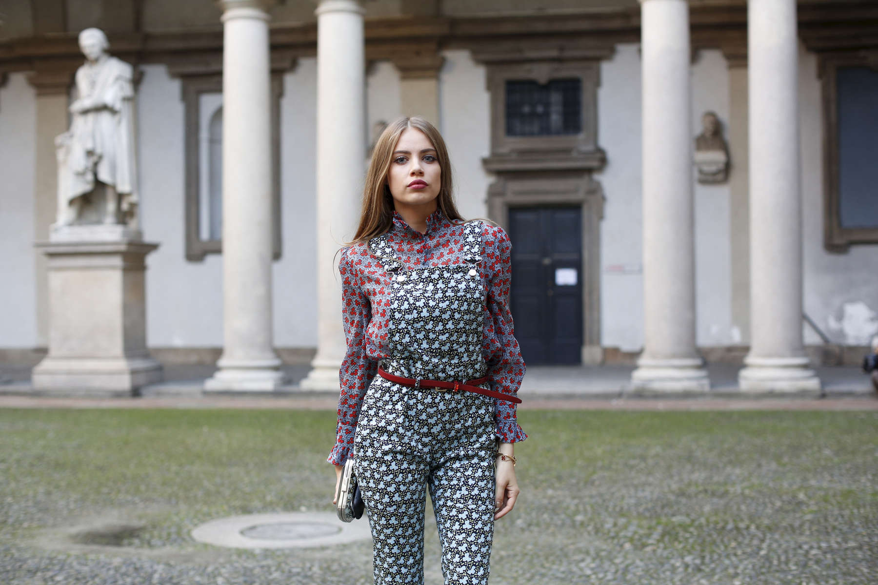 Xenia Tchoumitcheva - Milan Fashion Week, Sept. 2015