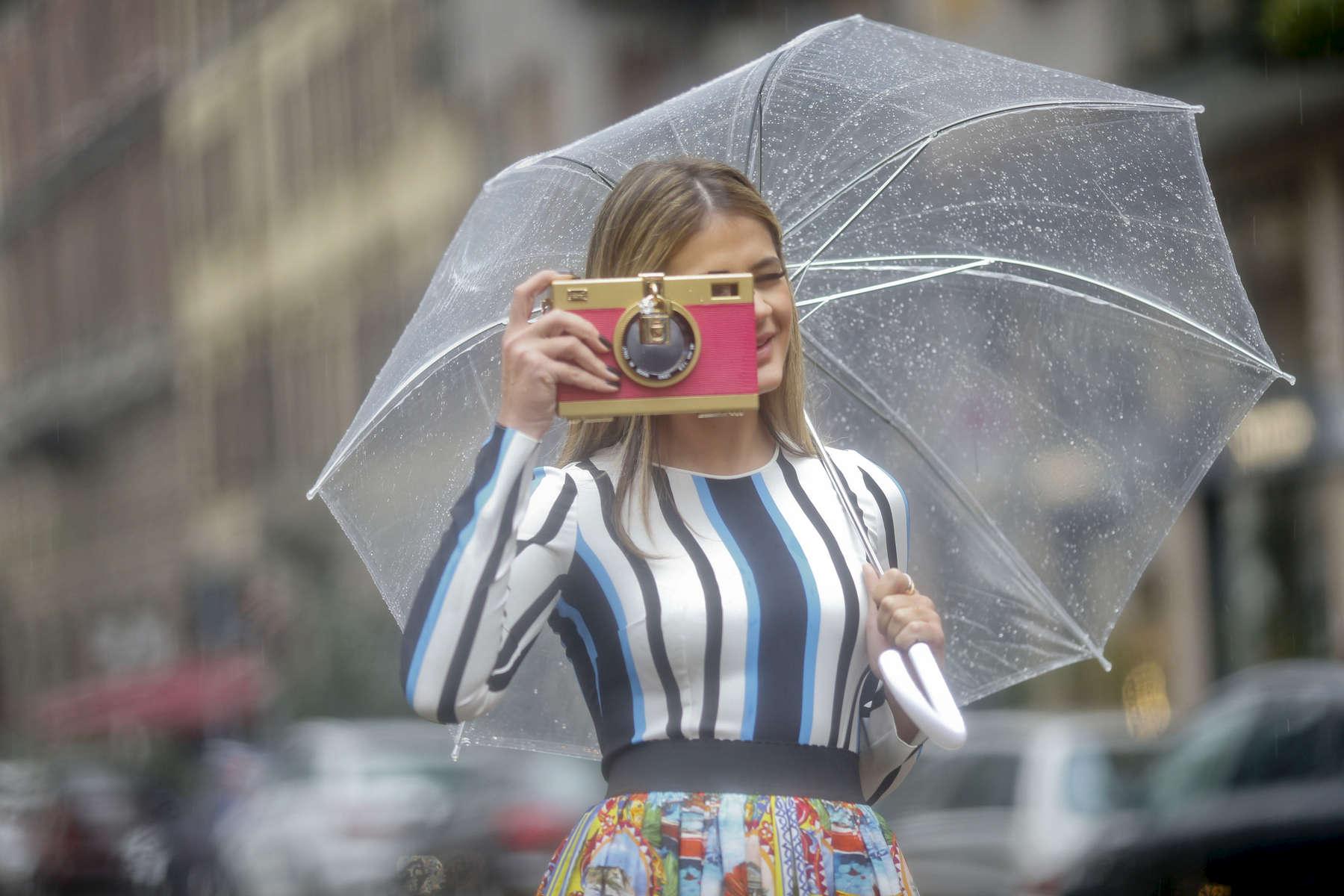 Thassia Naves - Milan Fashion Week, Feb. 2016