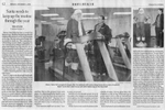 Edmonton journal article showing Greg of Fit 'N' Well working out with Santa Claus.