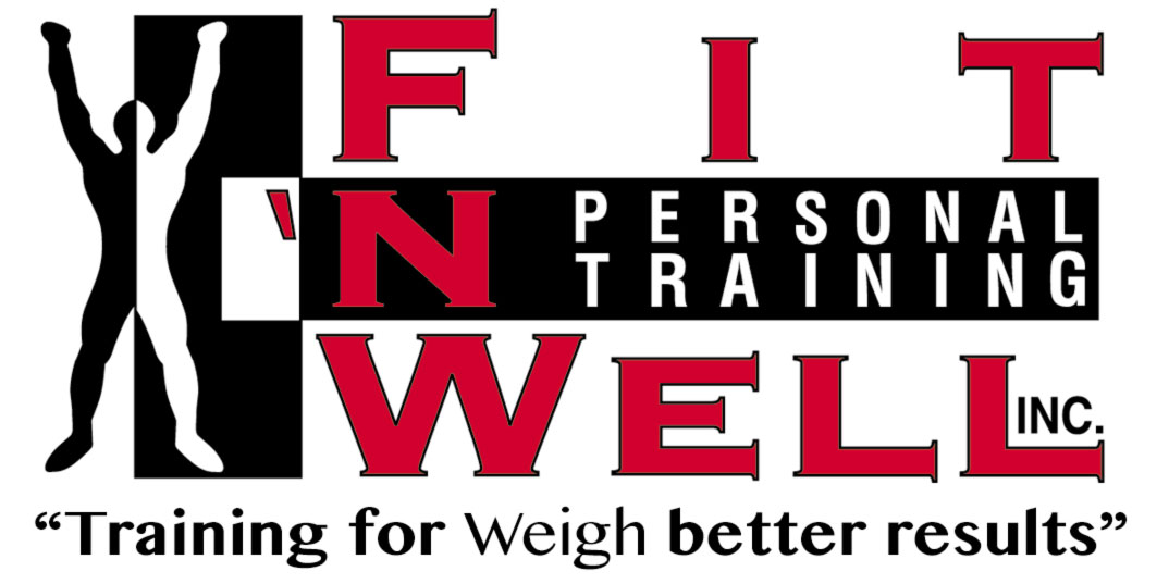 Fit 'N' Well Personal Training logo. Training for weigh better results.