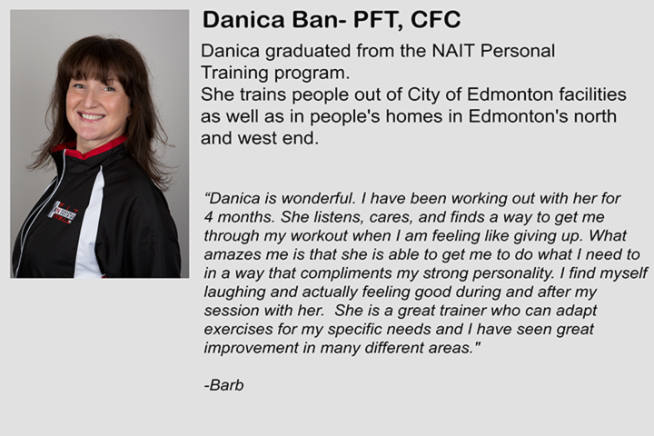 Danica is a personal trainer and founder of Fit \'N\' Well Personal Training Inc.