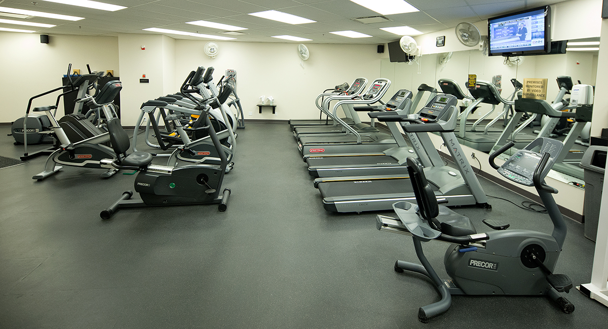 Scotia Place Fitness Centre cardio area. Corporate fitness facility managed by Fit 'N' Well Personal Training.