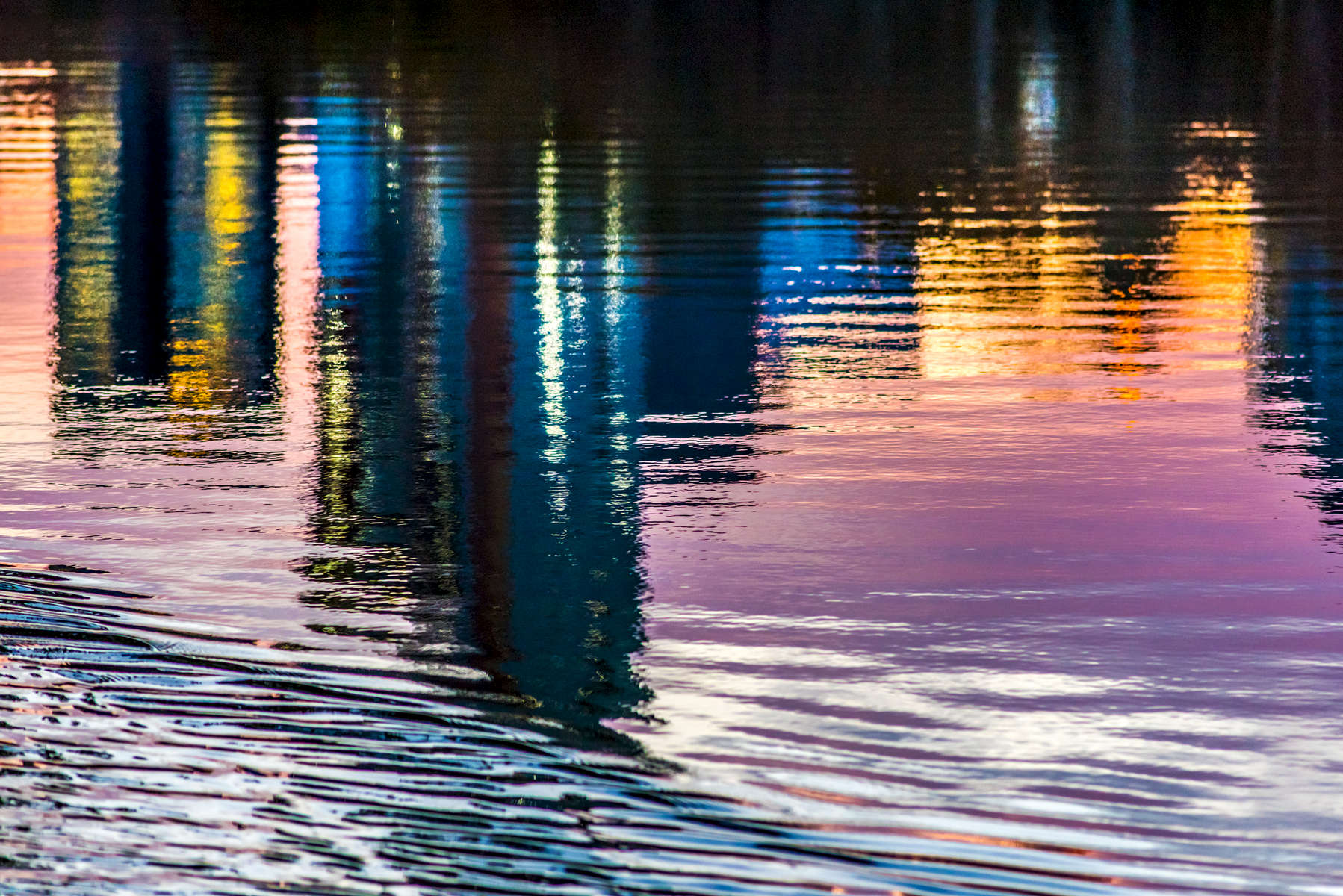 Autumn Dusk Reflection