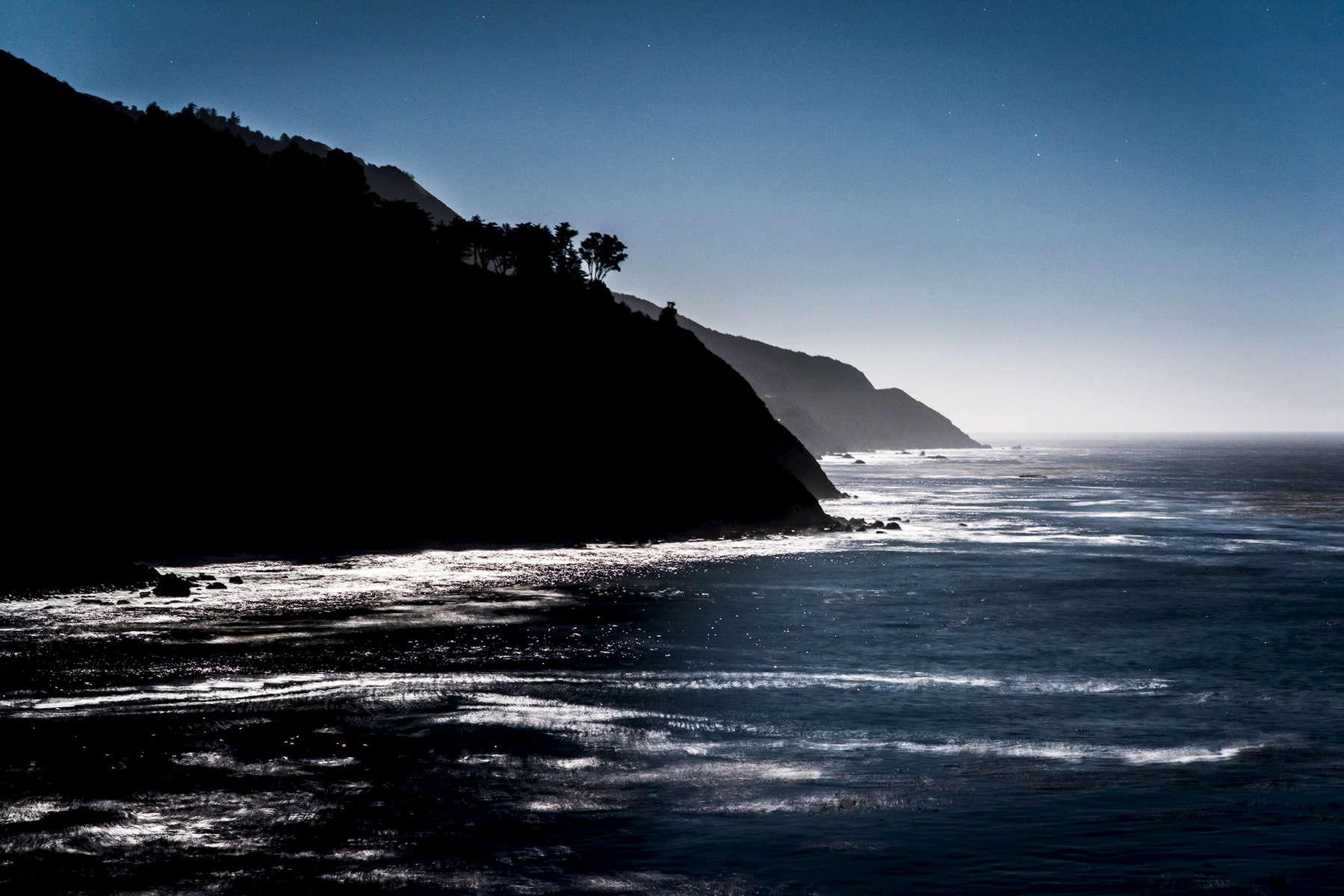 Moonlit Hills & Sea