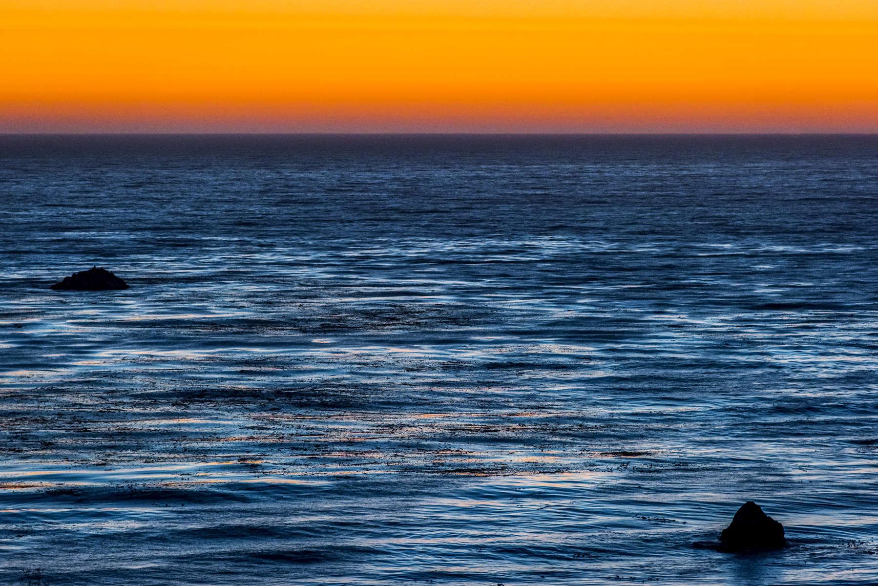 Twin Rocks at Sunset