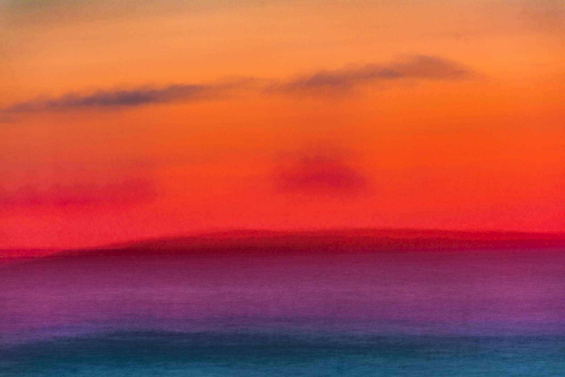 Hurricane Sunset Abstract