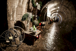 Advent wreaths are on display in the underground tunnels in Kranj, Slovenia.