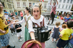 Ana Monro Theatre (SLO) performs during the Ana Desetnica street arts festival in Ljubljana, Slovenia, July 2, 2014.