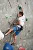 Thomas Ballet of France competes during the IFSC climbing world cup finals in Kranj, Slovenia, on Nov 18, 2012.