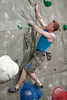 Magnus Midtboe of Norway competes during the IFSC climbing world cup finals in Kranj, Slovenia, on Nov 18, 2012.