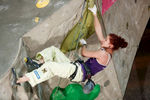 Johanna Ernst of Austria competes during the IFSC climbing world cup finals in Kranj, Slovenia, on Nov 18, 2012.