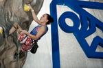 Dinara Fahritdinova of Russia competes during the IFSC climbing world cup finals in Kranj, Slovenia, on Nov 18, 2012.