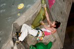 Jain Kim of Korea competes during the IFSC climbing world cup finals in Kranj, Slovenia, on Nov 18, 2012.