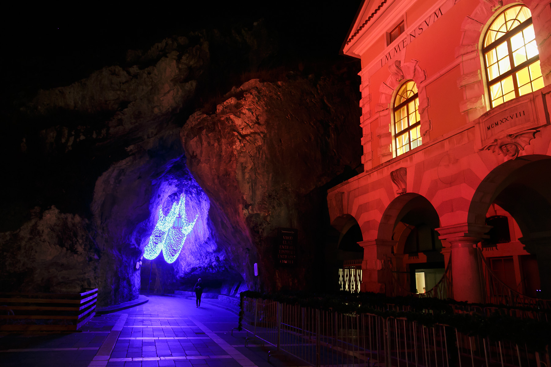 The entrance to world-famous tourist attraction the Postojna Cave in Slovenia on Dec. 25, 2015.