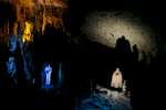 A live biblical scene representing the Nativity story of Jesus is staged in the world-famous Postojna Cave in Postojna, Slovenia, Dec. 25, 2015. This world's largest live Nativity Scene in a cave is staged annually.