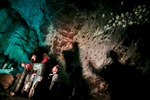 Actors perform as the Three Wise Men in a biblical scene during the world's largest live Nativity scene in a cave, staged in the world-famous Postojna Cave in Slovenia, Dec. 25, 2015.