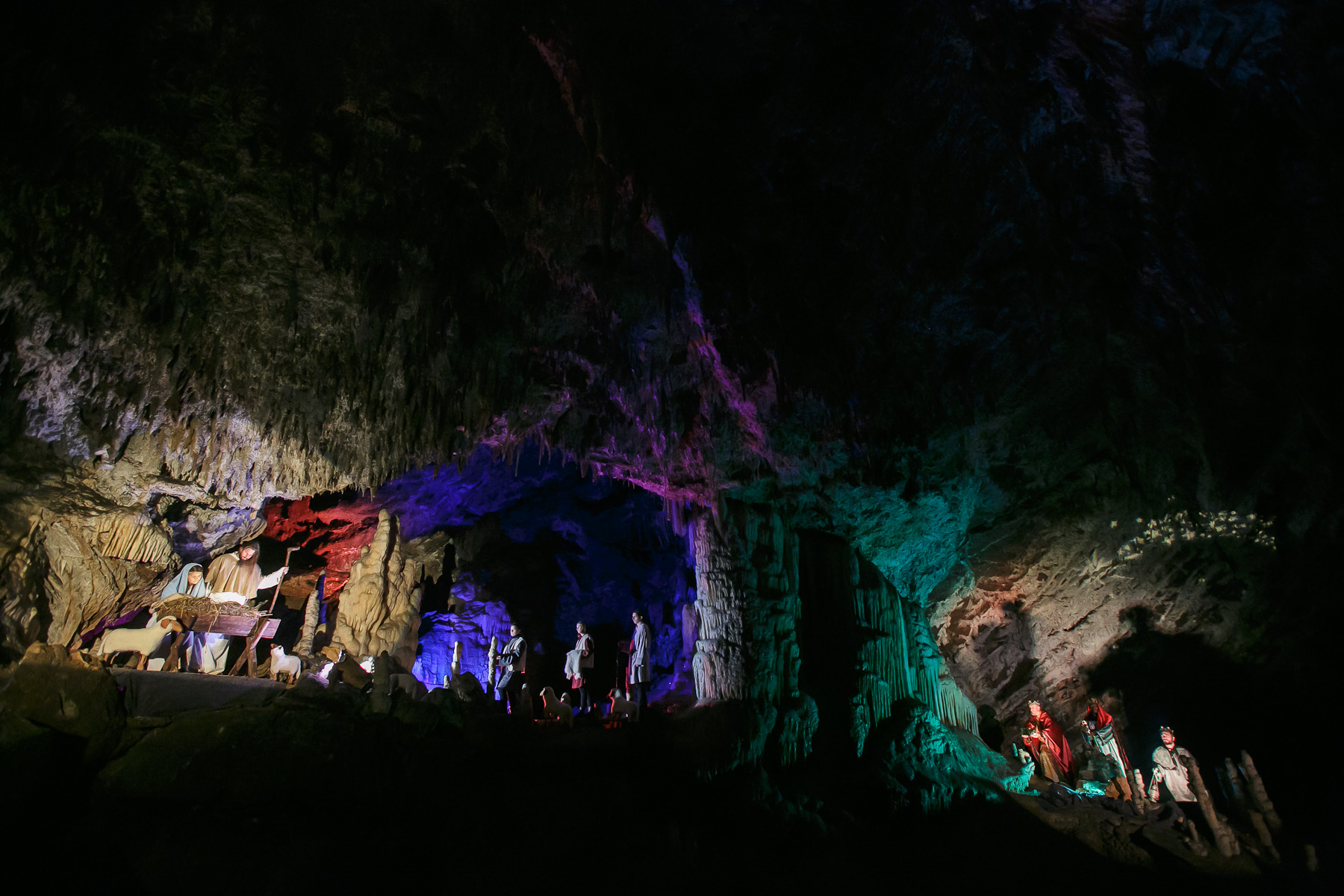 The world's largest live Nativity scene in a cave is staged in the world-famous Postojna Cave in Slovenia, Dec. 25, 2015.