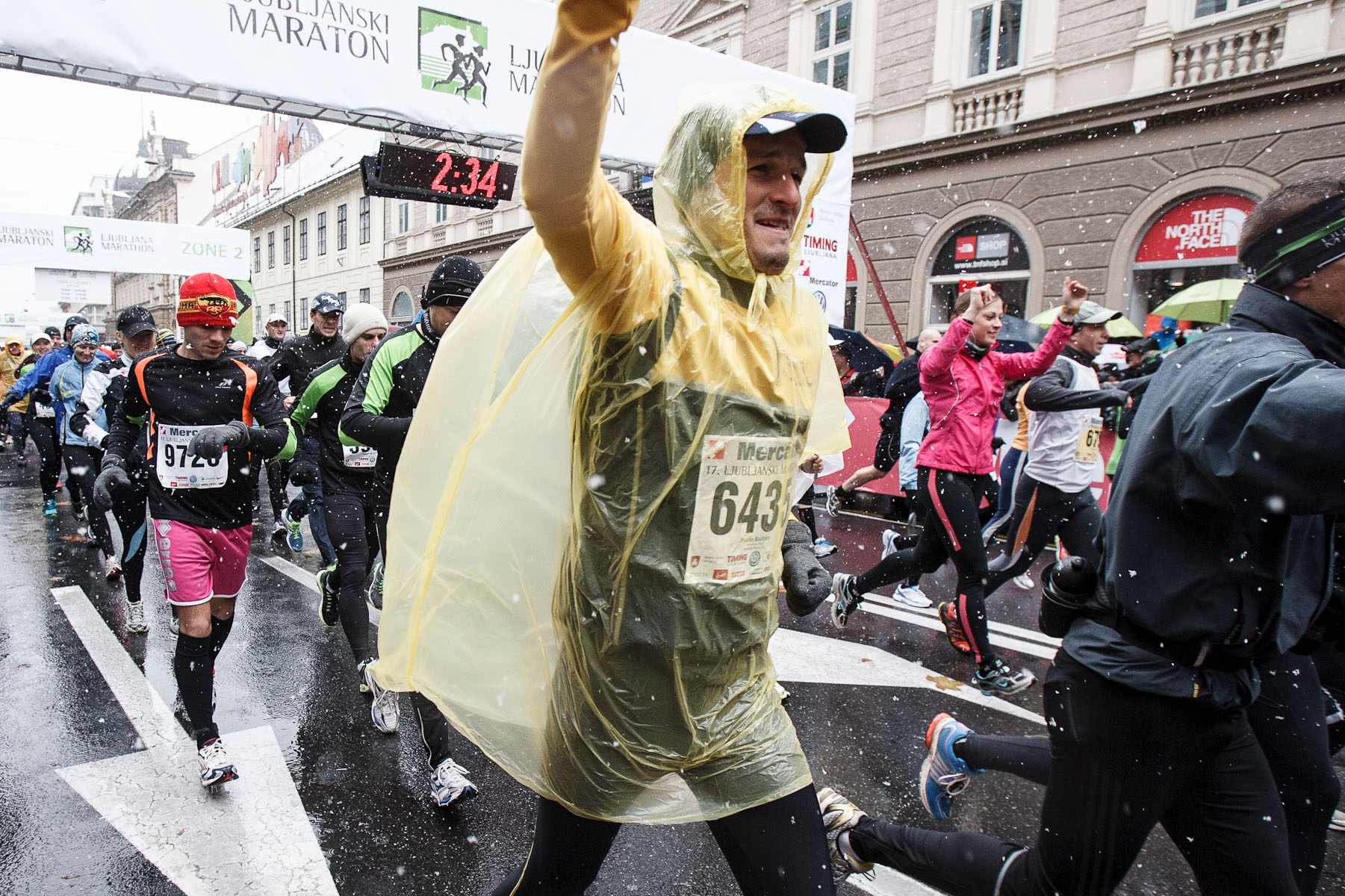 Athletes compete in the 17th International Ljubljana Marathon on Oct 28, 2012 in Ljubljana, Slovenia.