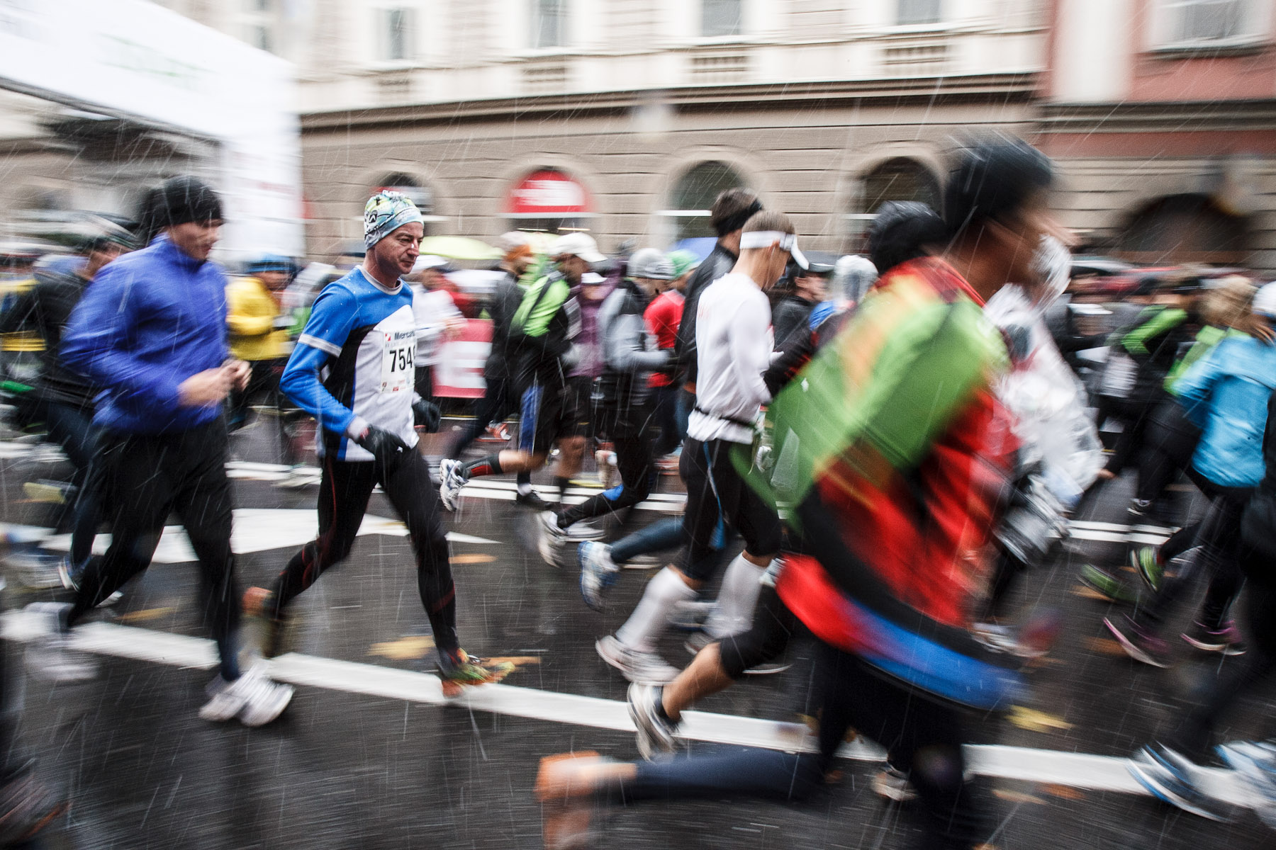 Athletes compete in the 17th International Ljubljana Marathon on Oct 28, 2012 in Ljubljana, Slovenia.
