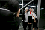 A participant takes a picture of cosplayers at the 4th Makkon, the largest Slovenian anime event, in Ljubljana, Slovenia, Dec. 12, 2015.