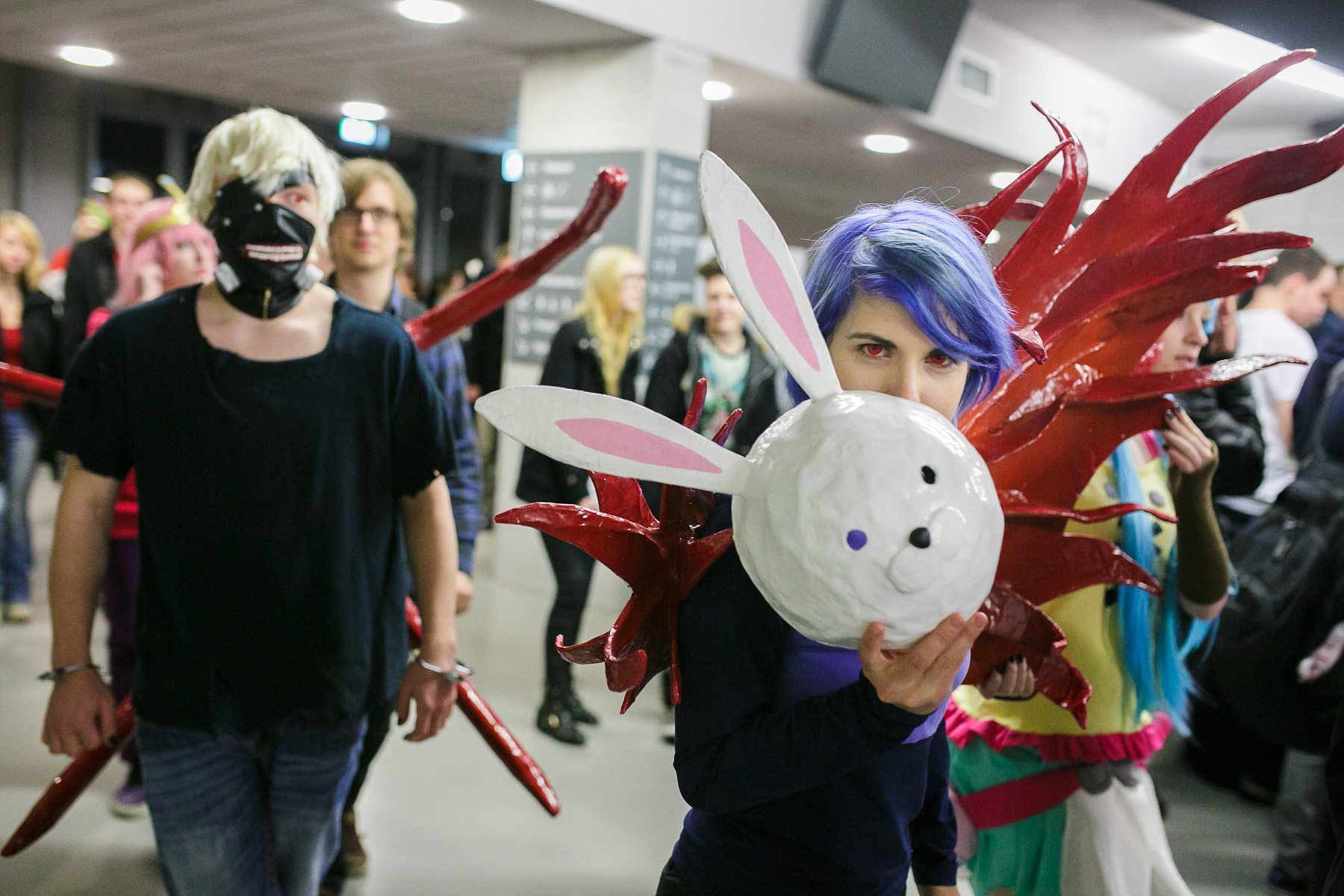 Cosplayers participate in the 4th Makkon, the largest Slovenian anime event, in Ljubljana, Slovenia, Dec. 12, 2015.