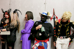 Cosplayers wait to go on stage at the 4th Makkon, the largest Slovenian anime event, in Ljubljana, Slovenia, Dec. 12, 2015.