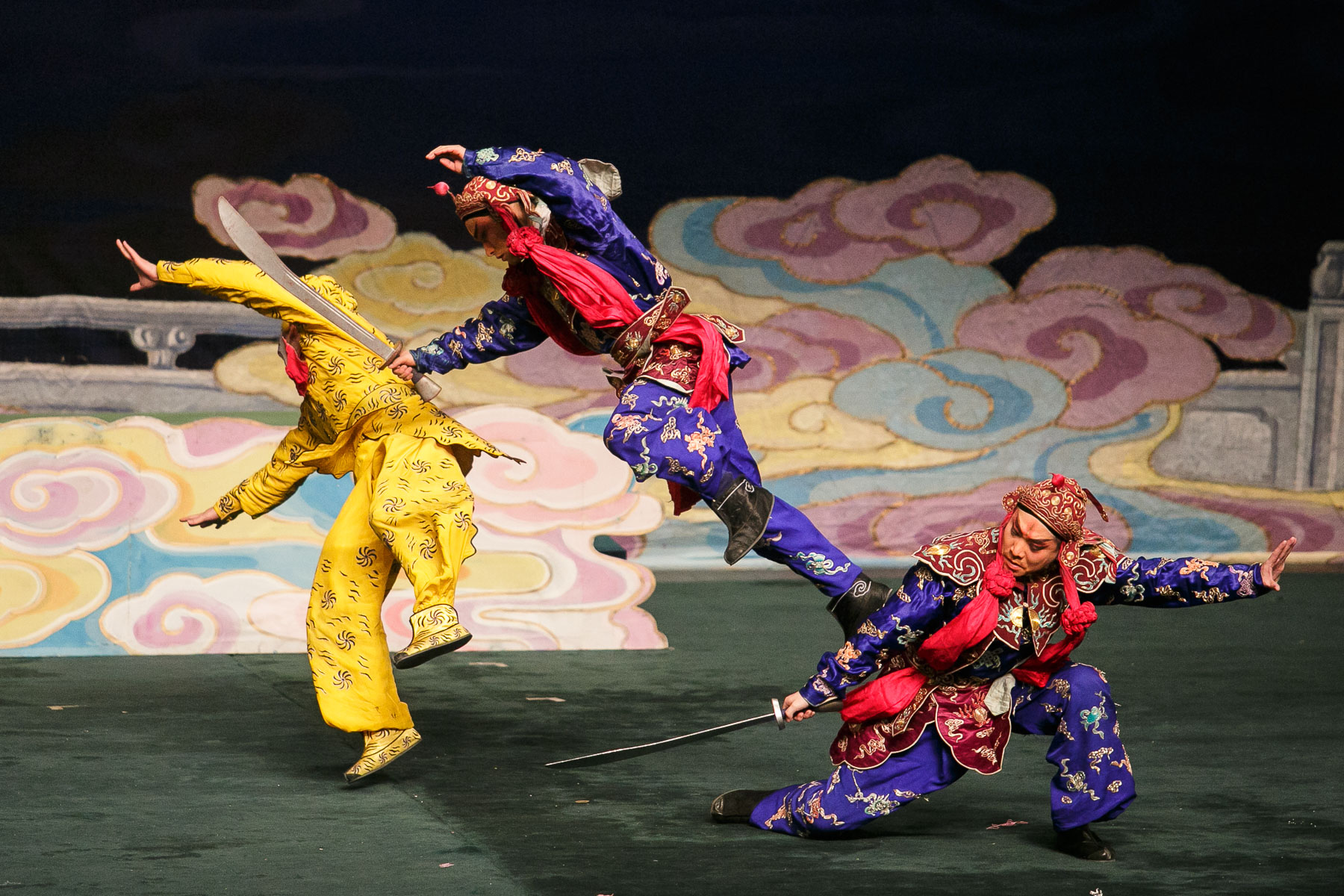 China National Peking Opera Company performs the Monkey King in Cankarjev dom Culture and Congress Center in Ljubljana, Slovenia, Dec. 31, 2015.