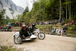 Franc Bizjan and Janez Marolt (SLO) on a 1960 Dnepr sidecar motorcycle compete in the 19th Hrast Memorial, the international oldtimers\' mountain race in Ljubelj, Slovenia, Sep. 13, 2015.