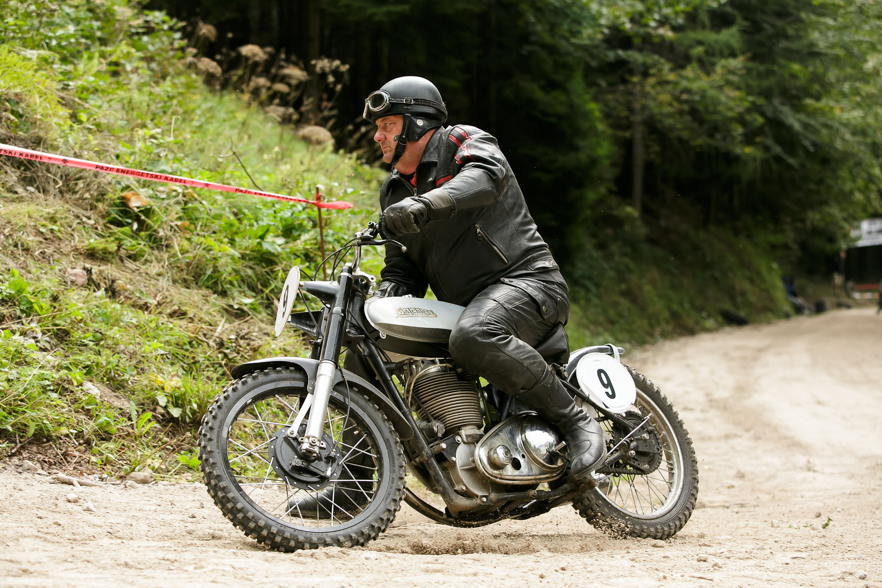 Matjaz Lesjak (SLO) on a 1941 Matchless motorcycle competes in the 19th Hrast Memorial, the international oldtimers\' mountain race in Ljubelj, Slovenia, Sep. 13, 2015.