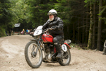 Gianni Fucich (ITA) on a Triumph motorcycle competes in the 19th Hrast Memorial, the international oldtimers\' mountain race in Ljubelj, Slovenia, Sep. 13, 2015.