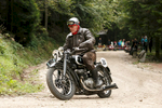 Joze Meglic (SLO) on a 1937 DKW motorcycle competes in the 19th Hrast Memorial, the international oldtimers\' mountain race in Ljubelj, Slovenia, Sep. 13, 2015.