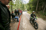 Janja Budic (SLO) on a 1954 Puch motorcycle competes in the 19th Hrast Memorial, the international oldtimers\' mountain race in Ljubelj, Slovenia, Sep. 13, 2015.