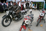 Joze Meglic (SLO) starts his 1937 DKW motorcycle before the 19th Hrast Memorial, the international oldtimers\' mountain race in Ljubelj, Slovenia, Sep. 13, 2015.
