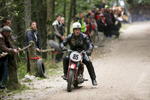 Peter Kuhar (SLO) on a 1958 Tomos Puch motorcycle competes in the 19th Hrast Memorial, the international oldtimers\' mountain race in Ljubelj, Slovenia, Sep. 13, 2015.