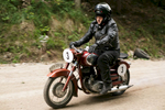 Roman Markic (SLO) on a 1954 Puch motorcycle competes in the 19th Hrast Memorial, the international oldtimers\' mountain race in Ljubelj, Slovenia, Sep. 13, 2015.