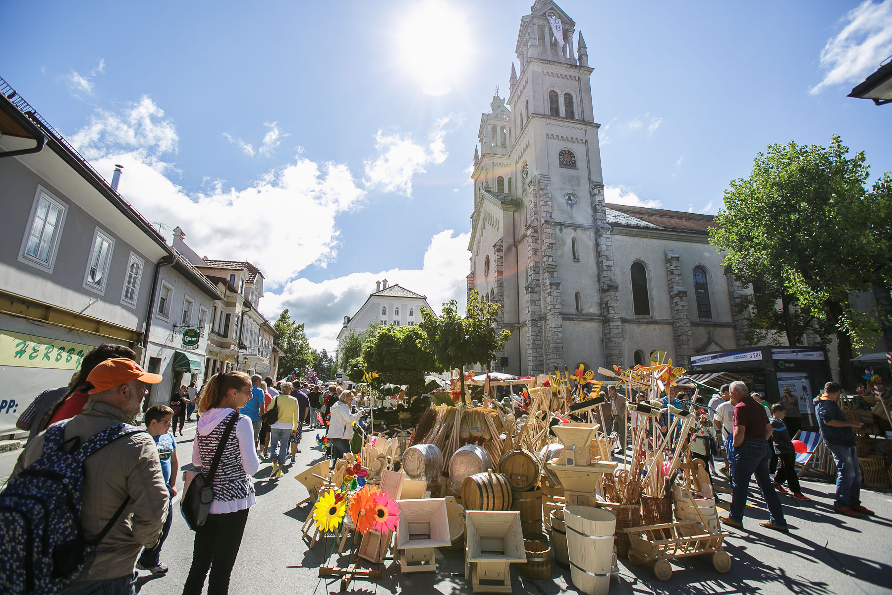 Woodenware on display in Ribnica, Slovenia, during the 40th traditional woodenware fair, Sep. 6, 2015.