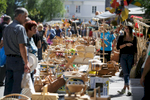 Woodenware stretches along the main street at the 40th traditional woodenware fair in Ribnica, Slovenia, Sep. 6, 2015.