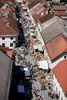 Main street from above during the 40th traditional woodenware fair in Ribnica, Slovenia, Sep. 6, 2015.