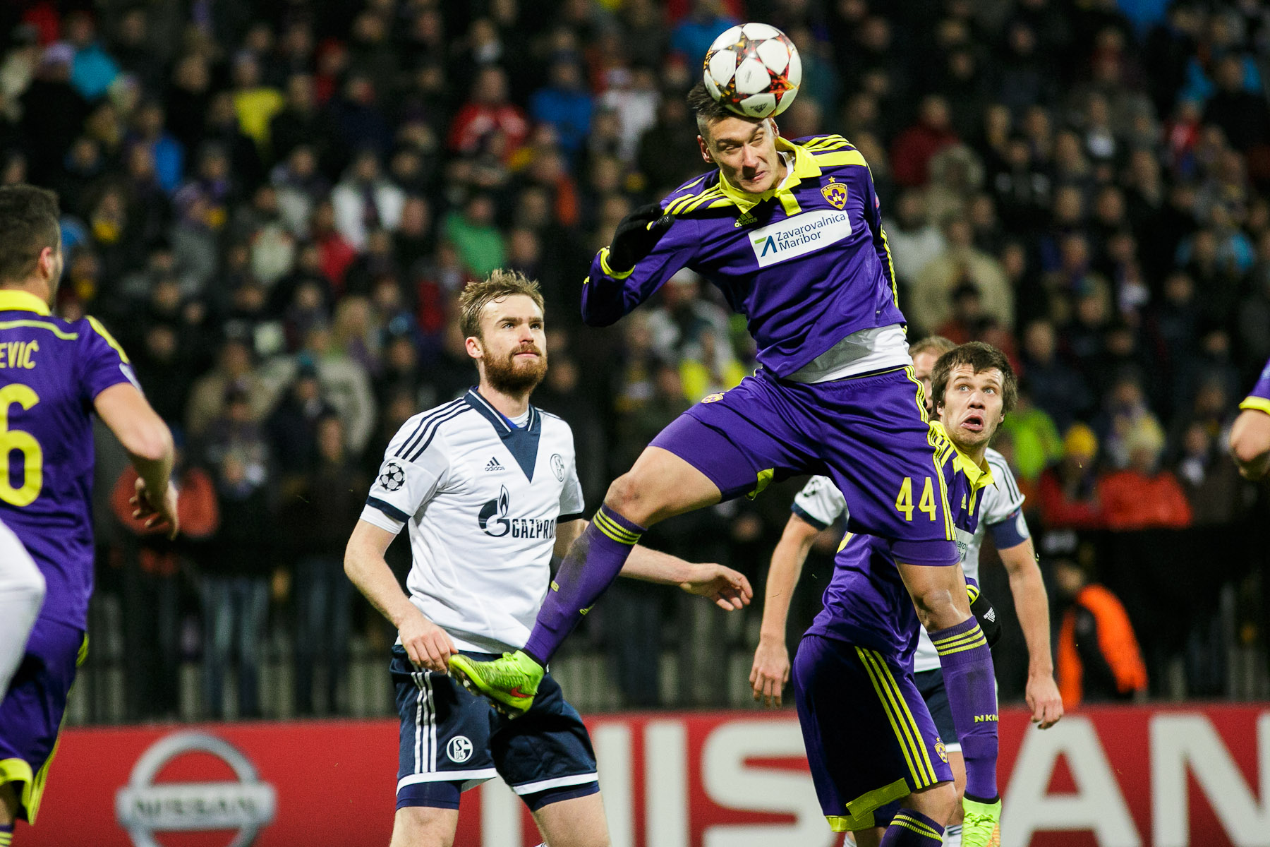 Arghus of NK Maribor in action during the UEFA Champions League Group G match on December 10 in Maribor, Slovenia.