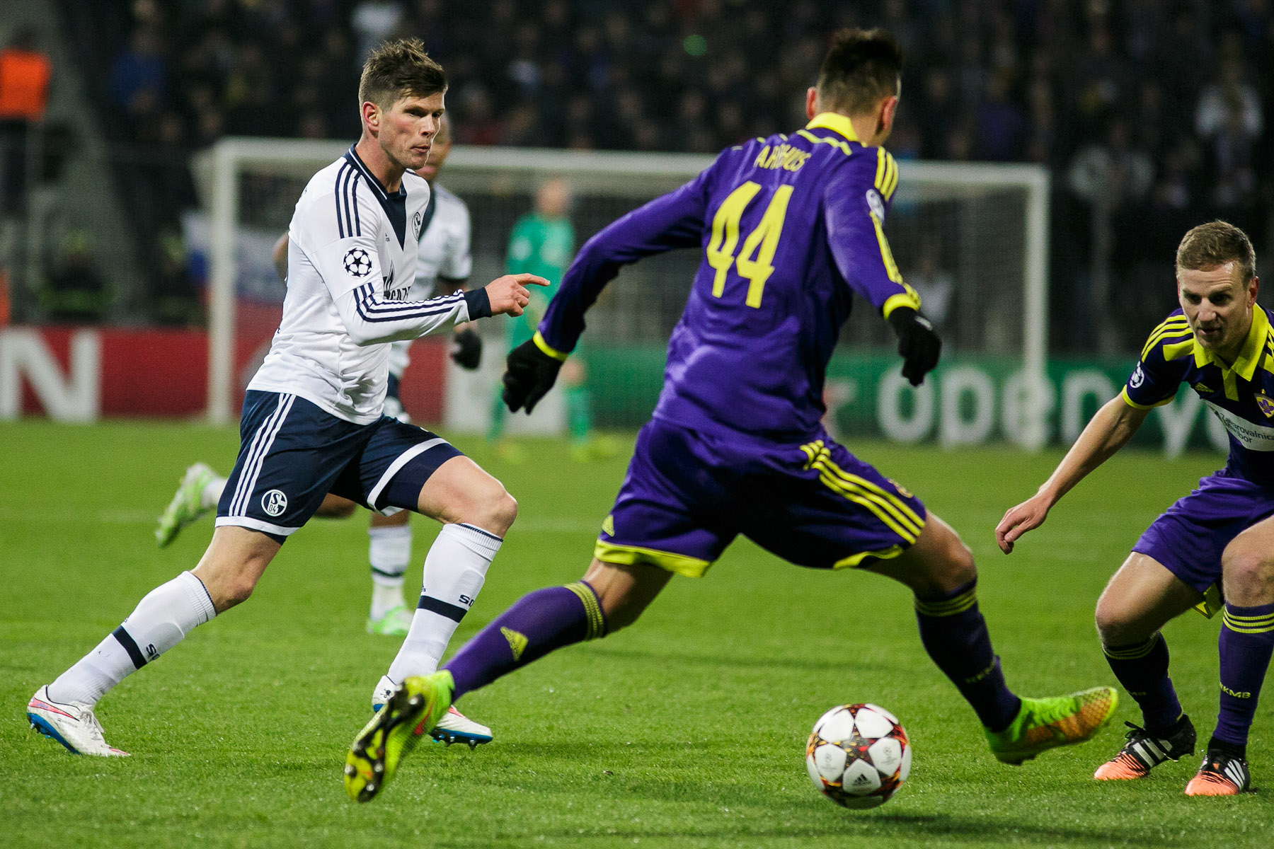 Arghus of NK Maribor in action during the UEFA Champions League Group G match againt FC Schalke 04 on December 10 in Maribor, Slovenia.