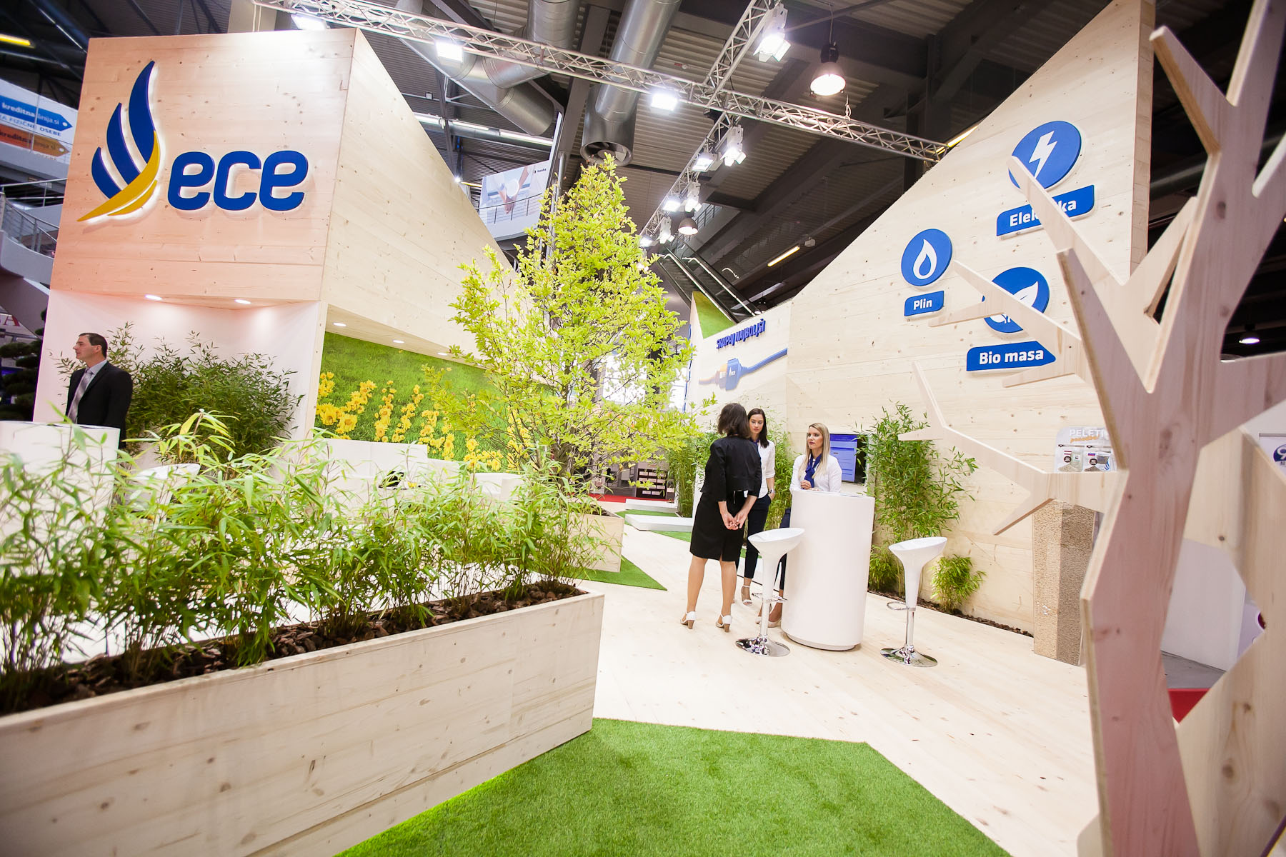 Companies dealing in green energy are abundant at this year\'s 48th International Trade Fair in Celje, Slovenia, Sep. 8, 2015.