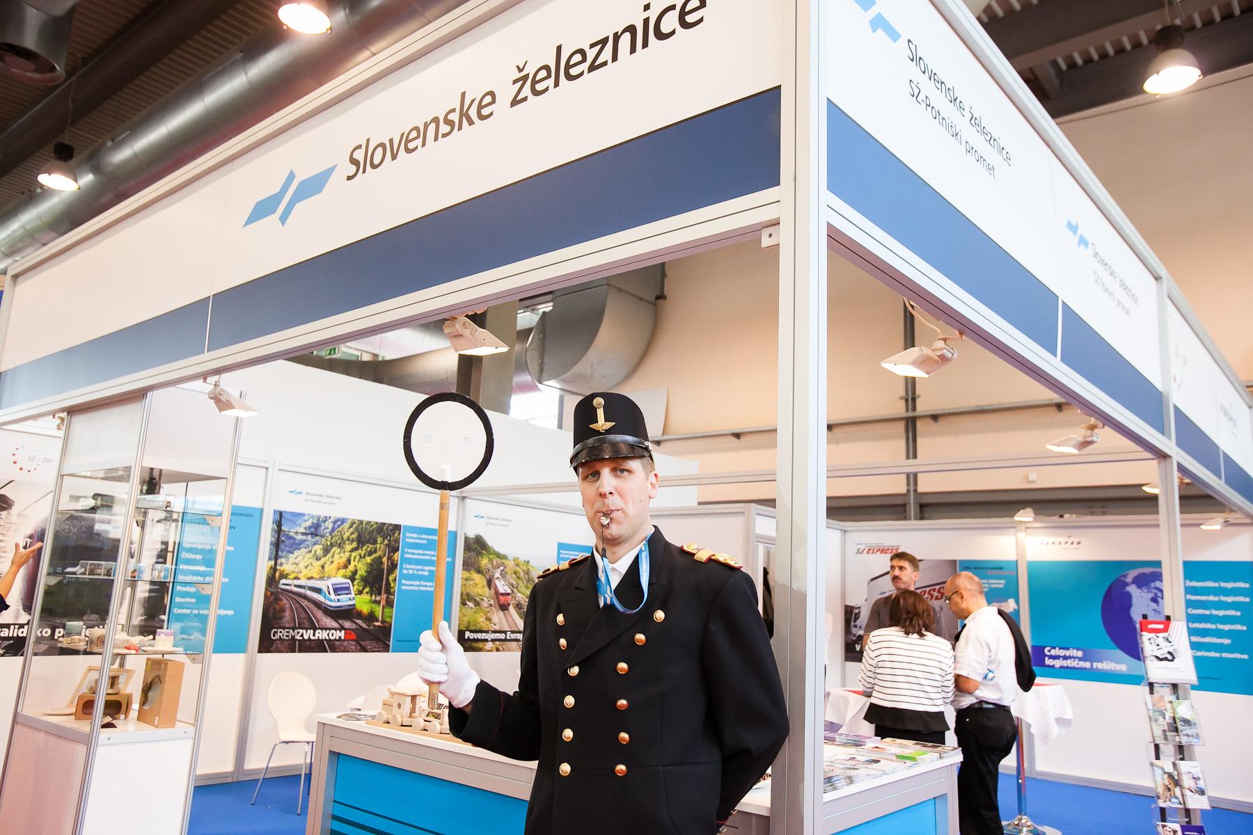 Slovenian Railways are represented at the 48th International Trade Fair in Celje, Slovenia, Sep. 8, 2015.