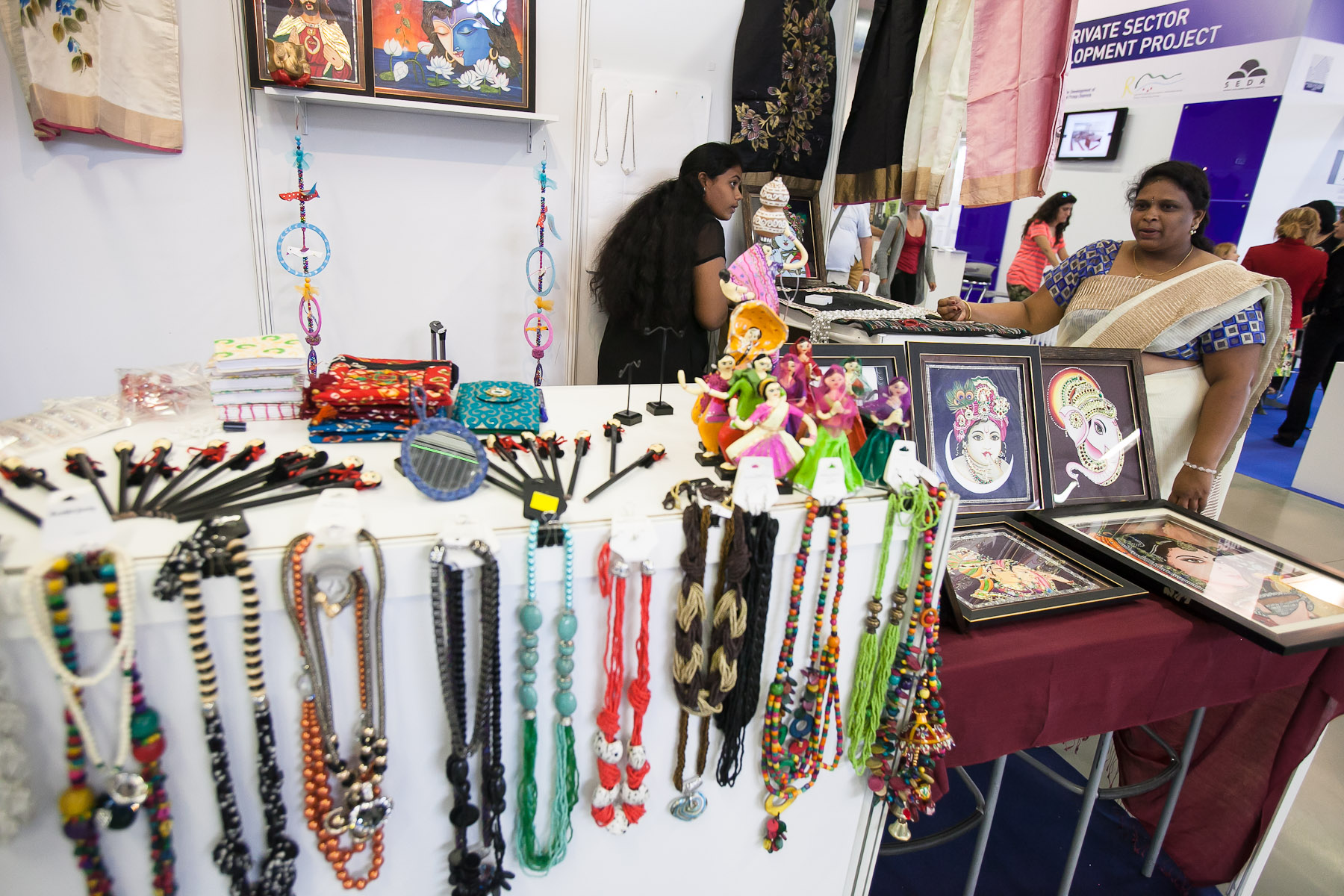 Indian companies present themselves at the 48th International Trade Fair in Celje, Slovenia, Sep. 8, 2015.