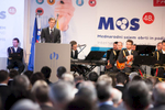 Slovenian Prime minister Miro Cerar speaks at the opening of the 48th International Trade Fair in Celje, Slovenia, Sep. 8, 2015.