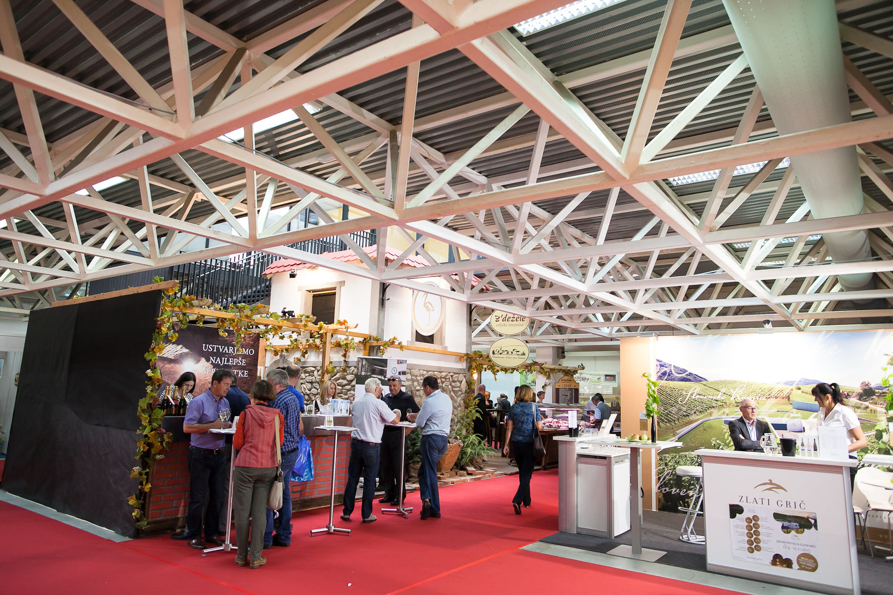 Slovenian wine makers present themselves at the 48th International Trade Fair in Celje, Slovenia, Sep. 8, 2015.