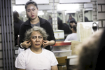 Tian Hao receives a wig in make-up before his performance in China National Opera House production of Giacomo Puccini\'s Turandot in Cankarjev dom Cultural & Congress center in Ljubljana, Slovenia, Sep. 1, 2015.