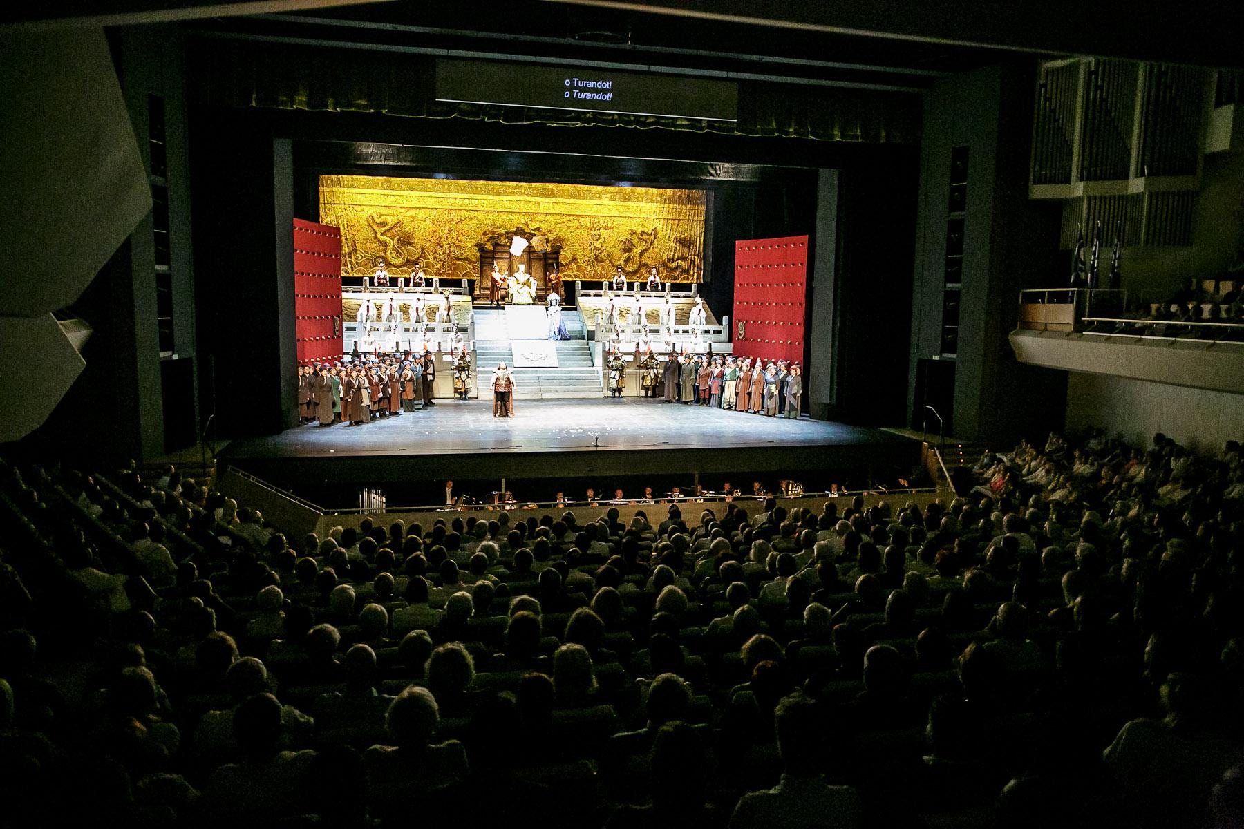 China National Opera House performs Giacomo Puccini\'s opera Turandot in Cankarjev dom Cultural & Congress center in Ljubljana, Slovenia, Sep. 1, 2015.