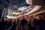 Standing ovation for the cast, director and conductor of China National Opera House production of Giacomo Puccini\'s Turandot in Cankarjev dom Cultural & Congress center in Ljubljana, Slovenia, Sep. 1, 2015.