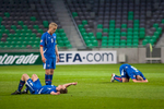 Hjortur Hermannsson of Iceland stands disappointed as his team lost against Germany at the UEFA U-17 European Championship final tournament at the SRC Stozice Stadium in Ljubljana, Slovenia, May 7, 2012.